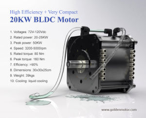 1.5kw 3kw 5kw 10kw 20kw BLDC Brushless Electric Motor for Car, Motorcyle and Boat pictures & photos