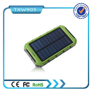 High Lead 10000mAh Portable USB Solar Power Bank Charger pictures & photos