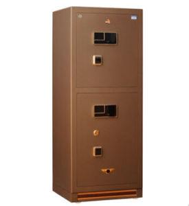 Two-Door Fingerprint Steel Jewelry Safe Box pictures & photos