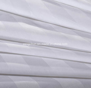 100% Cotton 3cm Stripe Bed Sheet Set pictures & photos