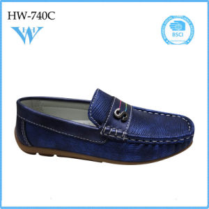 Latest Boys Shoes Design Boys PU Flat Shoes pictures & photos