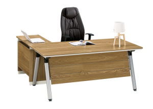Wooden Melamine Office Furniture Manager Table Executive Desk 1.6m 1.8m Office  Desk With Side