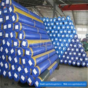 Wholesale 90GSM Waterproof HDPE Woven Tarpaulin in Rolls pictures & photos