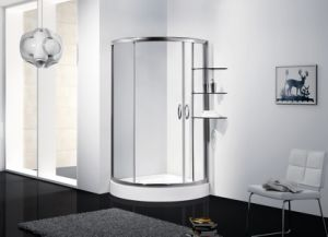 Toughten Glass Simple Shower Cubicle\ Shower Cabin\ Round Shower Enclosure pictures & photos