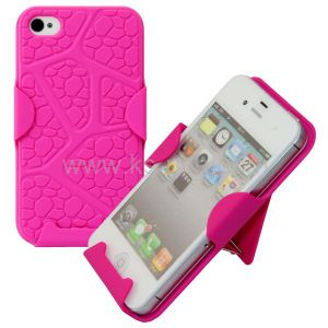 Slide Series 2-in-1 Holster Case with 180 Degree Rotating Holder for iPhone 4 & 4s (Rose Pink)