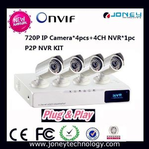 Onvif P2p IP Camera Poe NVR Kit 4 Channel NVR Kit pictures & photos