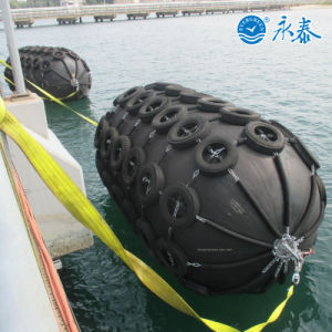 Marine Rubber Fender with Tire Chain pictures & photos