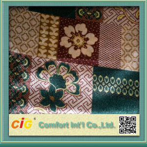 Popular Latest Design Flocked Style Polyester Printed Velvet Fabric for Sofa and Curtain pictures & photos