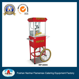 CE Approved Commercial Popcorn Machine with Cart (PC-800C) pictures & photos