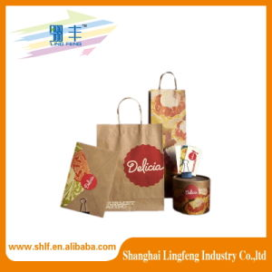 Manufacturer Custom Kraft Paper Shopping Bag