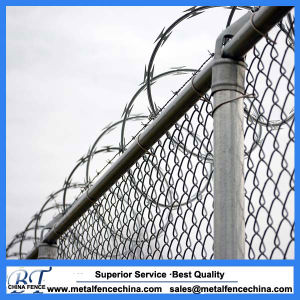 PVC Coated Security Wire Mesh Chain Link Fence pictures & photos