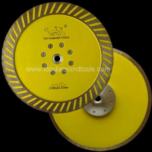 Diameter 230mm Turbo Grinding Blade with Flange for Granite pictures & photos