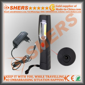 Rechargeable Handheld 3W COB LED Inspection Light Magetic Base Rotating Light Body pictures & photos