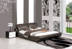 Popupar Comfortable Modern Leather Bed