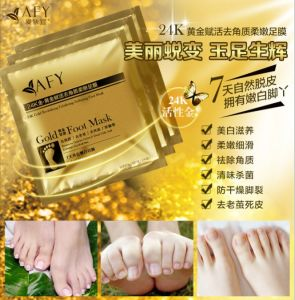 Afy 24k Gold Foot Mask Dead Skin Removal Mask pictures & photos