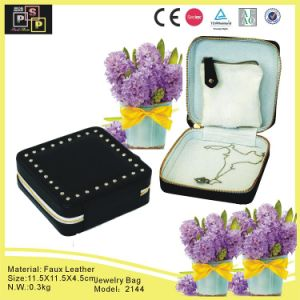 Promotional Square Zip Jewelry Travel Bag (2144) pictures & photos