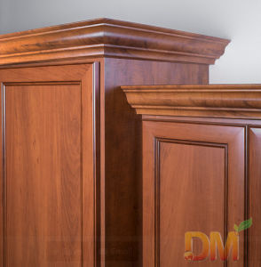Chinese Wooden Wardrobe with Crown Molding