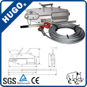 Hot Sell Wire Rope Pulling Winch Hoist Aluminum Winch pictures & photos