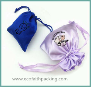 Wholesale Satin Drawstring Bag with Logo Printing