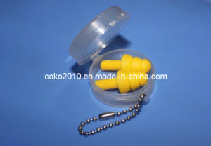 Reddish Yellow Silicon Ear Plug with Round Box pictures & photos