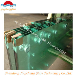 10mm Clear Tempered/Toughened Glass with Holes pictures & photos