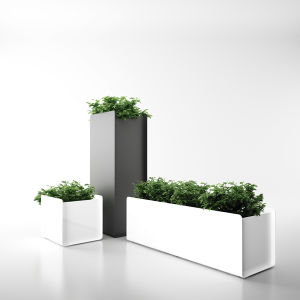 Uispair Square 100% Steel Garden Planter Pot for Modern Office Garden Decoration