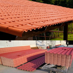 ASA PVC Roof Tile Red pictures & photos