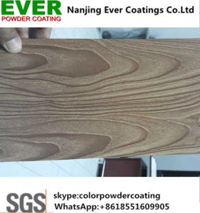 Wood Grain Effect Heat Transfer Powder Coating pictures & photos
