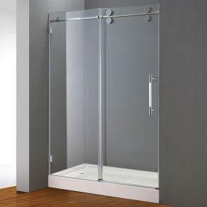 Hot-Selling Frameless Sliding Shower Door (E02P) with Stainless Steel Rail & Rollers