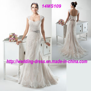 New Fashion Beach Wedding Dress with Detachable Jacket pictures & photos