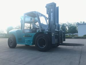 Cina Mesin 10ton Forklift with Triplex Mast pictures & photos