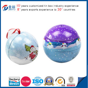 Ribbon Ball Decorate Tin pictures & photos