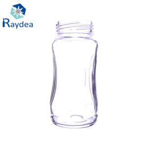 8oz Tempered Wide Mouth Glass Feeding Bottles pictures & photos