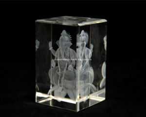 3 Inches Crystal Ganesha on Lotus for Hindu Souvenir (R3016) pictures & photos