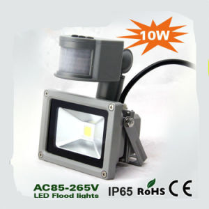 Best Sale Waterproof 10W LED Flood Light with PIR Motion Sensor pictures & photos