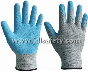 Anti-Cut Work Glove with Blue Latex Dipping (LD8034) pictures & photos