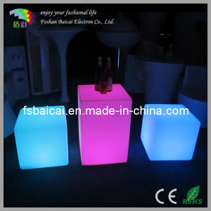 LED Cube Table and Chair Set (BCR-161C, BCR-114C)