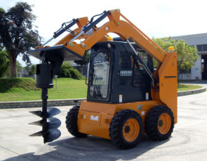 Low Price Skid Steer Loader with Driller pictures & photos