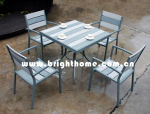 Plastic Wood Furniture-Dining Chair and Table (BP-390) pictures & photos