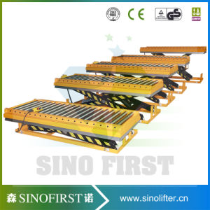 2000kg Furniture Stationary Scissor Lift Table with Roller pictures & photos