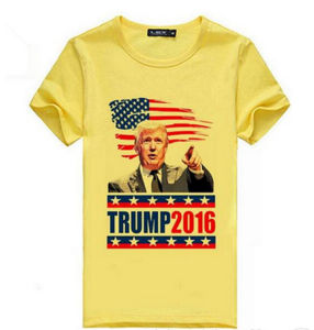 Custom Cheap Polyester Good Quality Election Heat Transfer Printing T Shirt pictures & photos