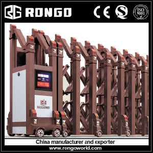 Rongo Brand Newest Design Accordion Main Gate pictures & photos