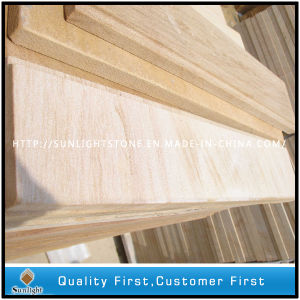 Honed Surface Yellow Wood Grain Sandstone Tiles pictures & photos