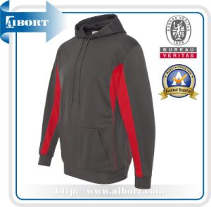 Mens Fashion Cotton Grey Long Sleeve Hoodie (ATH-0009)