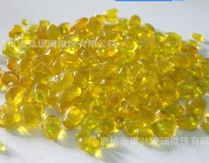 Colour Glass Beads-Yellow9 Irregular Glass Beads pictures & photos