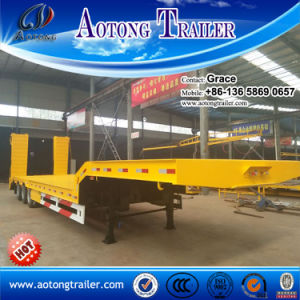 Heavy Duty 3 Axle Low Bed Trailer Lowbed Semi Trailer, 30 Ton to 60 Tons Low Loader Truck Trailer for Sale pictures & photos