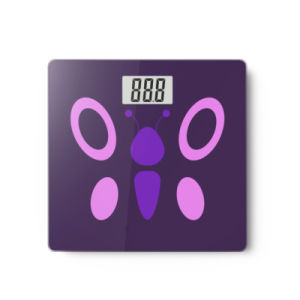 Large LCD Display Electronic Weighing Bathroom Scale with Full Plastic Base pictures & photos