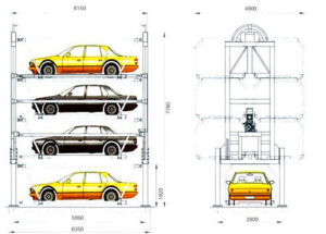 Vertical Circulating Car Parking System with Ce pictures & photos