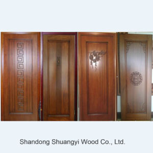 China Manufacture Wholesale Price Security Solid Wood Interior Door pictures & photos