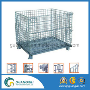 Folding Storage Metal Wire Mesh Pallet Cage for Warehouse pictures & photos